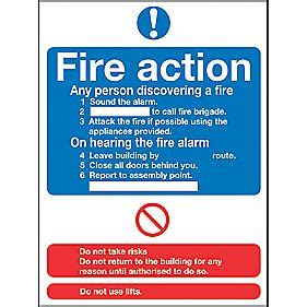 quot fire action quot notice sign 230 x 172mm fire action notice