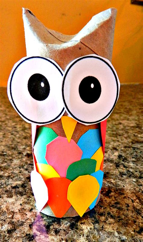 Toilet Paper Owl Craft - ducks n a row o is for owl