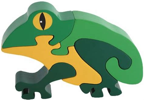 3d Puzzle Frog By Bimbozone frog wooden puzzle 3d wood jigsaw puzzle crafts
