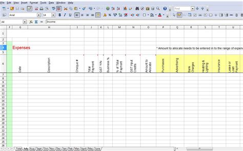 Tax Template Excel by Spreadsheet For Tax Expenses Laobingkaisuo