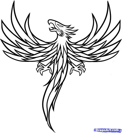 phoenix tattoo no outline outline phoenix tattoo design tattooshunt com