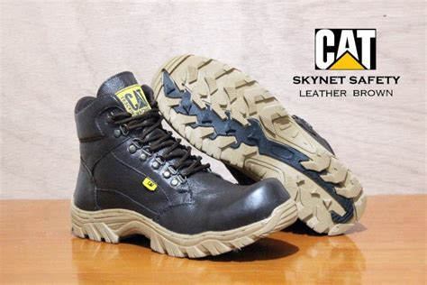 Sepatu Caterpillar Safety Boots Shoes Addict10 1 jual beli caterpillar boots safety ujung besi kulit asli touring motor kerja leather shoes 3