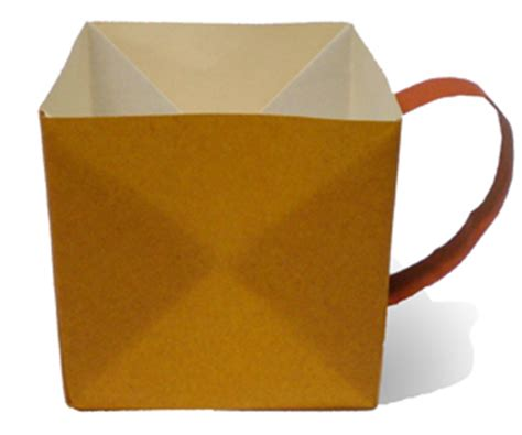 origami a coffee cup