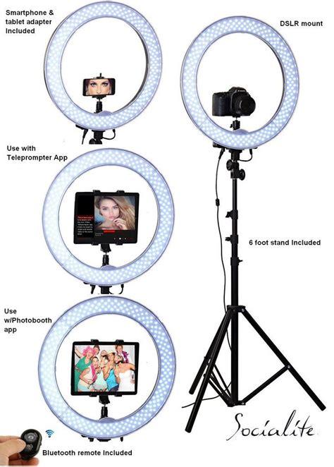 ring light photo booth socialite 18 quot led live video ipad ring light kit