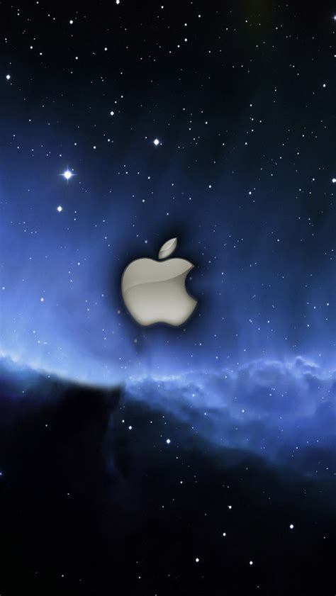 apple wallpaper with stars apple blue stars space iphone wallpaper 640x1136 iphone