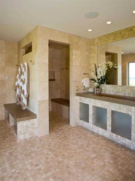bathroom with open shower photo page hgtv