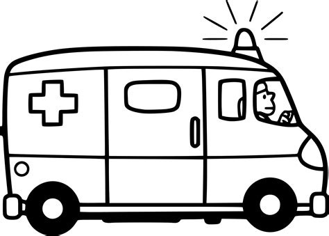 Coloriage Ambulance Facile 224 Imprimer Sur Coloriages Info