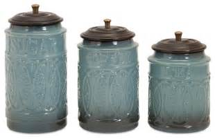 Contemporary Kitchen Canisters by Taylor Ceramic Canisters Set Of 3 Contemporary