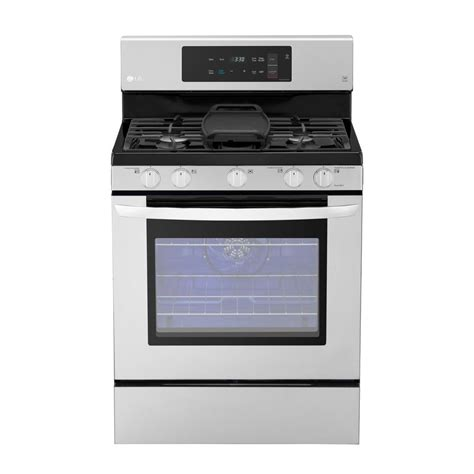 Oven Gas Lg kucht pro style 36 in 5 2 cu ft propane gas range with