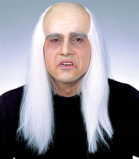 wigs for bald spots wig old man long white hair fake hair bald patch horror