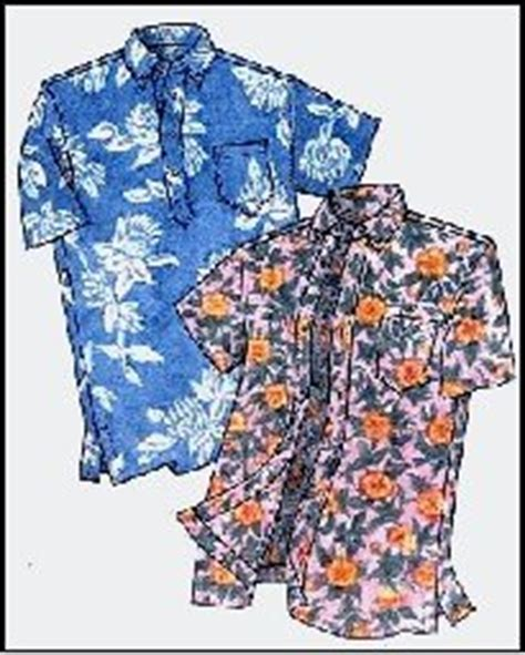 sewing pattern aloha shirt amazon com mens hawaiian pullover or button front placket