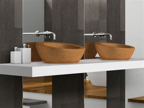 bathroom ware cork countertop cork washbasin suber by ama design