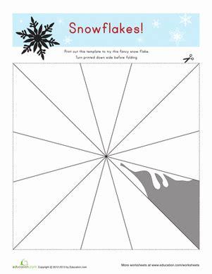 Free Paper Snowflake Templates Snowflake Templates Worksheet Education Com