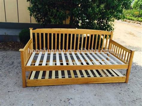 oak wooden daybed with trundle bed buy oak bed with