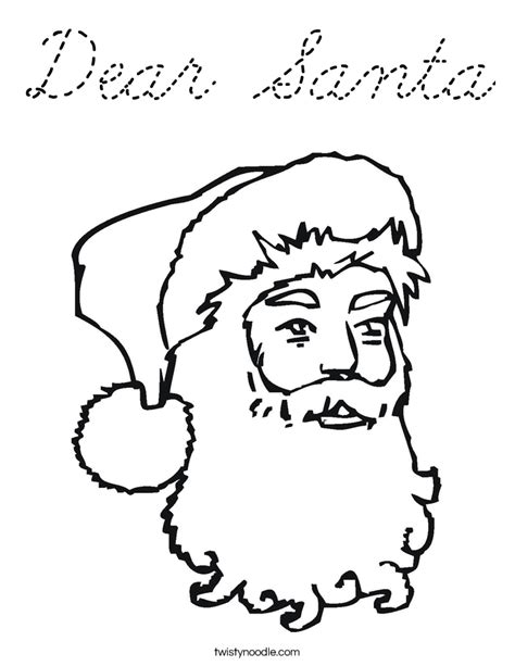 dear santa coloring page the gallery for gt dear santa letter coloring page