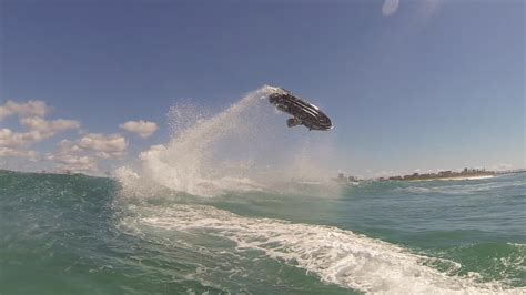 yamaha jet boat in ocean jet ski wave jumping youtube