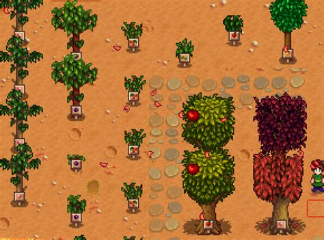 fruit trees stardew valley fruit trees with signs at stardew valley nexus mods and