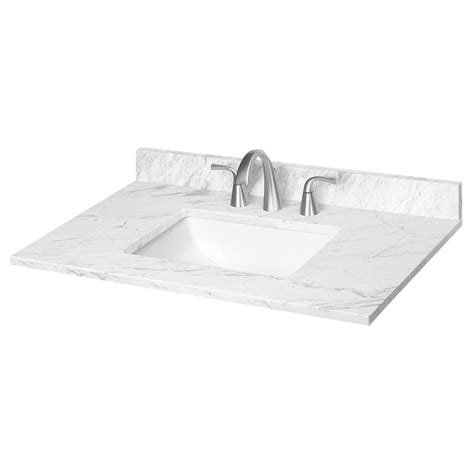31 bathroom vanity with top shop ariston natural marble undermount bathroom vanity top