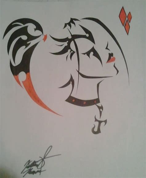 harley quinn tribal original and by juliana