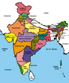 indian map travel india