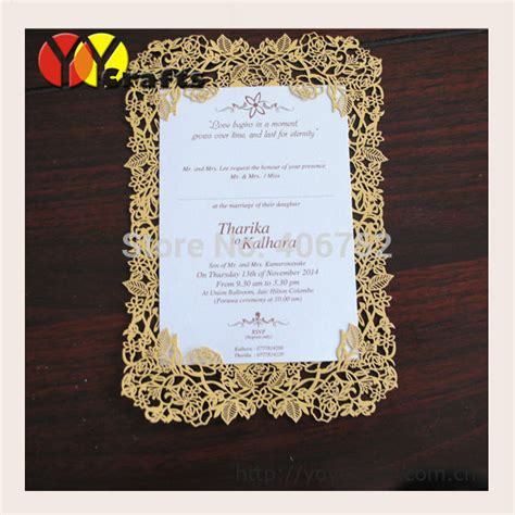 Simple Unique Wedding Invitations by Aliexpress Buy Beautiful Flower Laser Cut