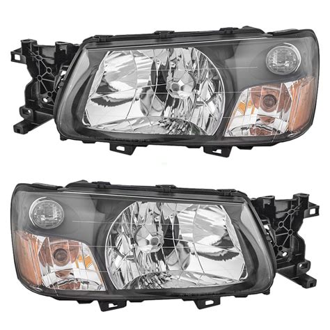 subaru forester headlights everydayautoparts com 2003 2004 subaru forester set of