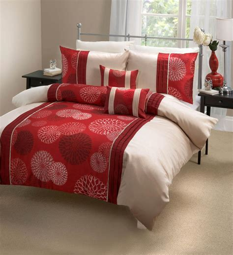 red coverlet marseille duvet set red free uk delivery terrys fabrics