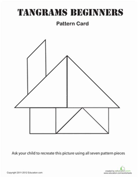 printable geometric puzzle easy tangrams puzzle 2 kindergarten shapes worksheets