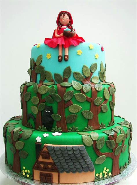 beautiful  red riding hood cake designs  charming day