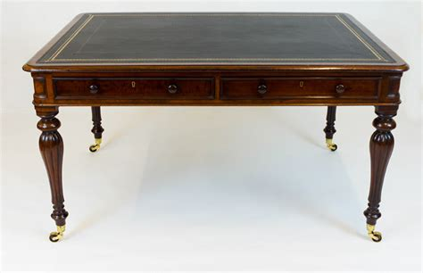 Antique Library Table Desk by Georgian Mahogany Partners Library Table Desk Sn682