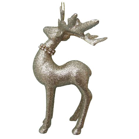 donner blitzen incorporated glitter reindeer with head