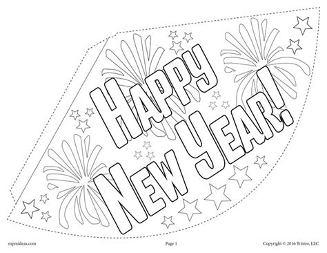 new year template printable free printable new year s hat activity craft 3