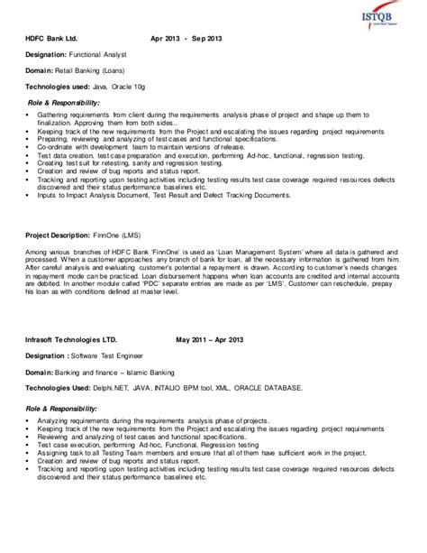 Retail Domain Testing Resume