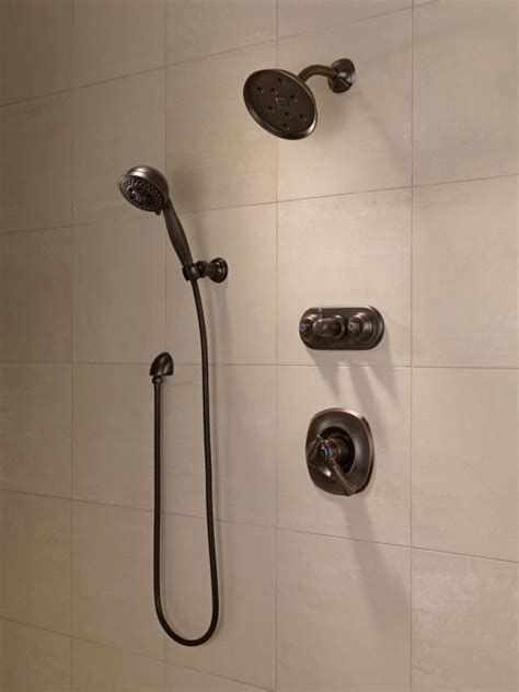 Delta Dual Shower System by Faucet T17292 Ss In Brilliance Stainless By Delta