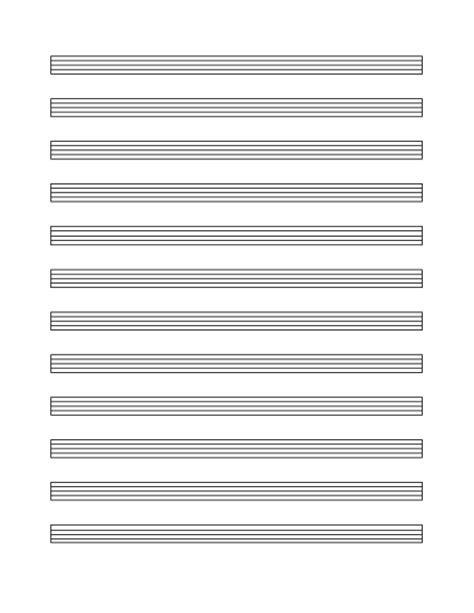 musical staff lines flash cards template staff paper 12 per page