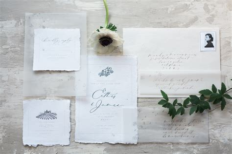 wedding invitations using vellum paper ethereal vellum wedding invitations