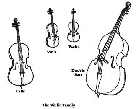 String Family Coloring Page how to draw string instrument