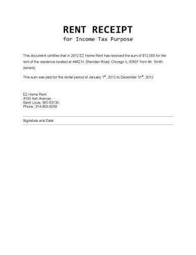 Rent Letter For Taxes Error404ntfound Images For Sle Rent Receipt Template