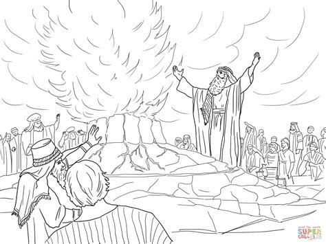 free bible coloring pages elijah elijah called from heaven coloring page free