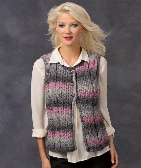 knitting pattern vest top cable best vest knitting pattern knit redheartyarns