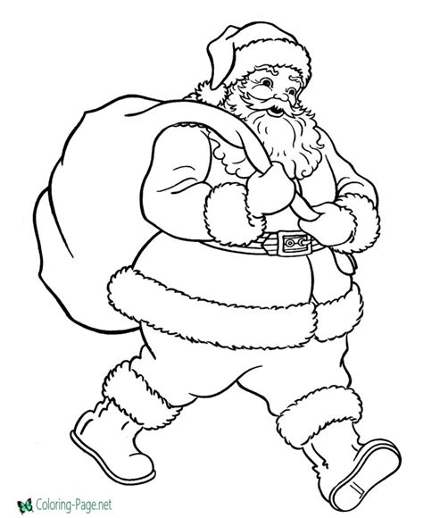 simple santa coloring page christmas coloring pages
