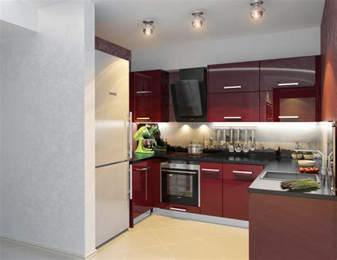 small modern kitchens ideas kitchen decorating idea small modern kitchen in red