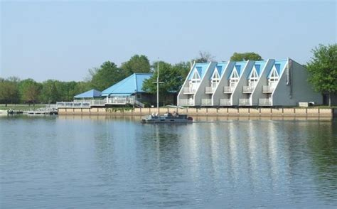 view to boat rental slip from cabin parking picture of - Boat Rental Rend Lake Il