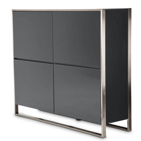 accent cabinets with doors aico metro lights 4 doors accent cabinet midnight 9010009 809
