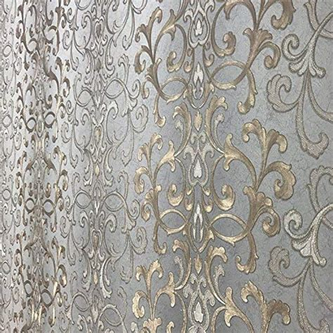 grey victorian wallpaper embossed modern slavyanski wallcovering roll victorian