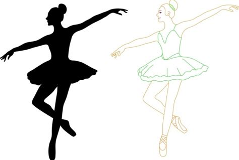 Dancer Outline by Ballet Free Vector 41 Free Vector For Commercial Use Format Ai Eps Cdr Svg