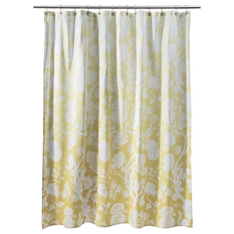 Apartment Bathroom Ideas threshold ombre floral shower curtain yellow want this