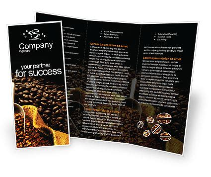 coffee shop brochure design free download coffee beans in a bag brochure template design and layout