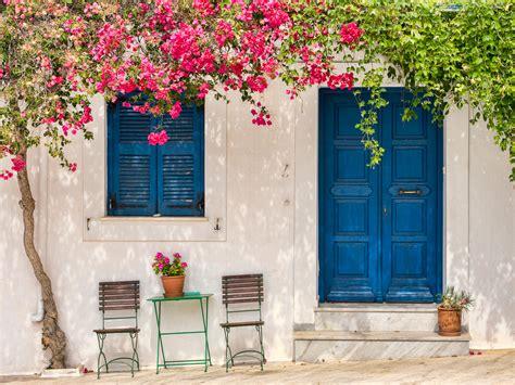 house  santorini hd wallpaper background image