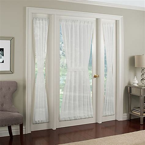 Side Window Curtains Buy Crushed Voile Rod Pocket 72 Inch Side Light Window Curtain Panel In White From Bed Bath Beyond